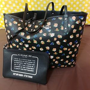 Coach Floral Reversible Tote